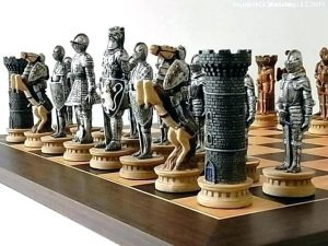 Image that resembles A Traingular View of Wooden Chess Board with the Coins